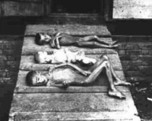 """""""In satul nostru n-au mai ramas decat 30% din locuitori, iar ceilalti au murit si mor de foame, nici chiar pe front nu si-au pierdut viata atatia oameni..."""" (din relatarea unui functionar comunist din raionul Balti, RSSM). Aceasta poza care descrie un strop din cruzimea comunismului in Basarabia este un document al Muzeului National de Istorie din Chisinau."""
