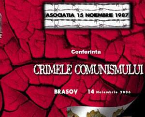 """Asociatia """"15 Noiembrie 1987"""" organizeaza, la 19 ani de la revolta anticomunista a muncitorilor de la Brasov, conferinta cu tema """"Crimele comunismului"""""""