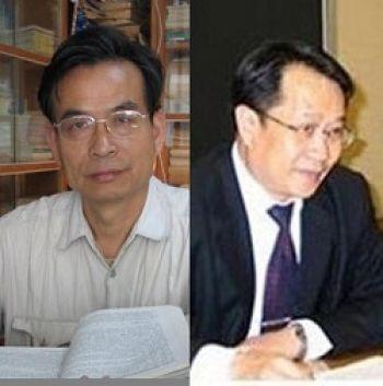 Profesorul Zhang Zanning (stanga) si avocatul Mo Shaoping.