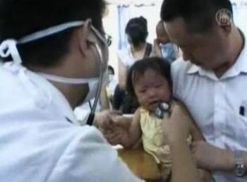 Laptele praf contaminat cu melamina a provocat aparitia de pietre la rinichi la multi bebelusi.