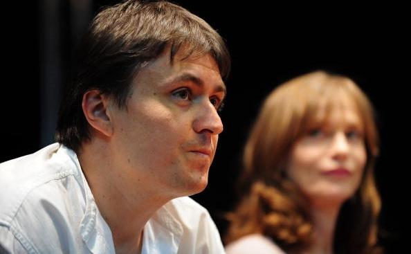 Cristian Mungiu şi Isabelle Hupert în Bucureşti, mai 2010