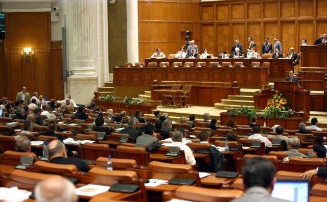 Parlamentul Romaniei, plenul Camerei Deputatilor.