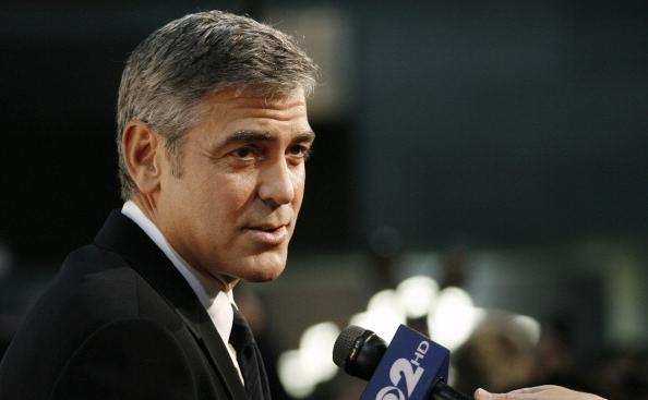 Actorul George Clooney la Centrul Kennedy  pentru Drepturile Omului şi Justiţie, New York, 17 noiembrie 2010