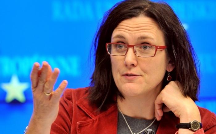 Comisarul UE pentru afaceri interne Cecilia Malmstrom