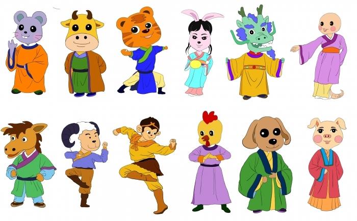 Cele 12 animale care reprezinta cei 12 ani ai zodiacului chinez