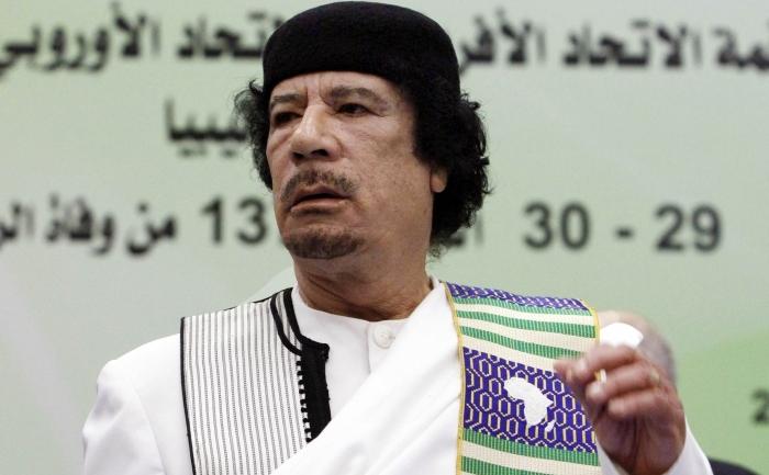 Liderul libian, Muammar Ghaddafi.