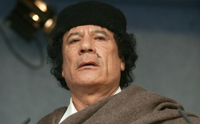 Fostul lider libian, Moammer Gaddafi.