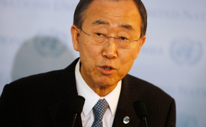 Secretarul general al ONU, Ban Ki moon.