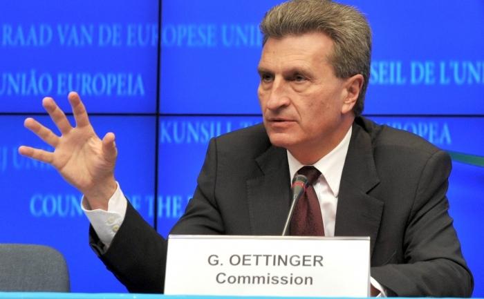 Comisarul european pentru energie Gunther Oettinger.