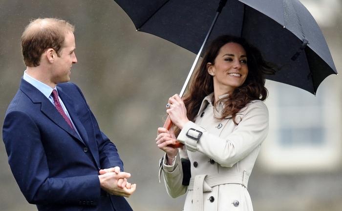 Kate Middleton impreuna cu viitorul sau sot, printul William