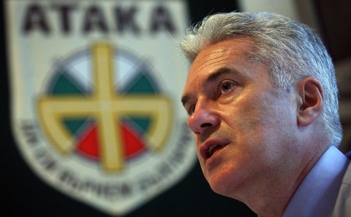 Liderul partidului bulgar Ataka de extremă-dreaptă, Volen Siderov.