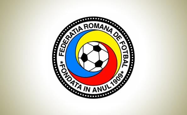 Sigla Federaţiei Române de Fotbal.