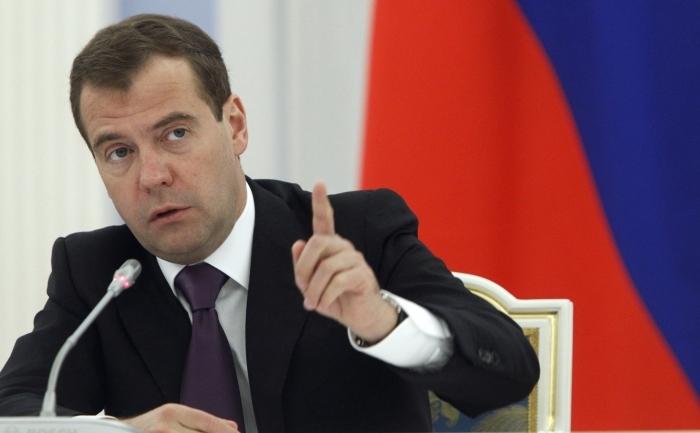 Dmitri Medvedev la resedinta prezidentiala din Gorki, in afara Moscovei, 20 iulie 2011