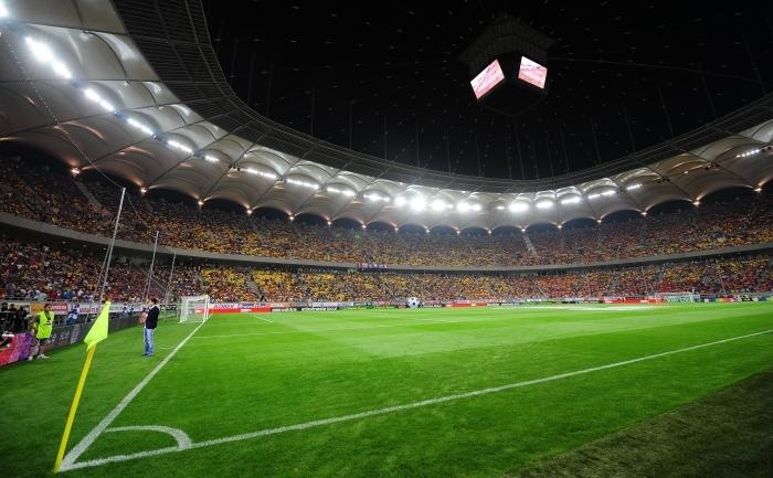Vedere interioară a stadionului Naţional Arena din Bucureşti.