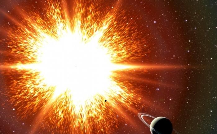 Imagine artistica despre explozia unei supernove
