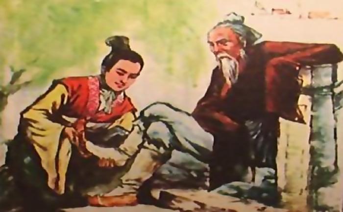 Zhang Liang incaltand batranul.