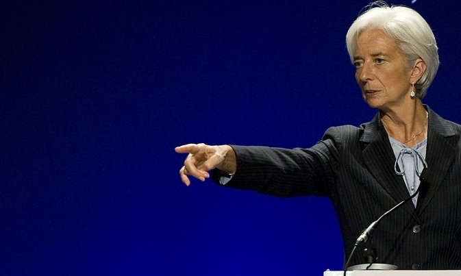 Şefa Fondului Monetar Internaţional (FMI), Christine Lagarde.