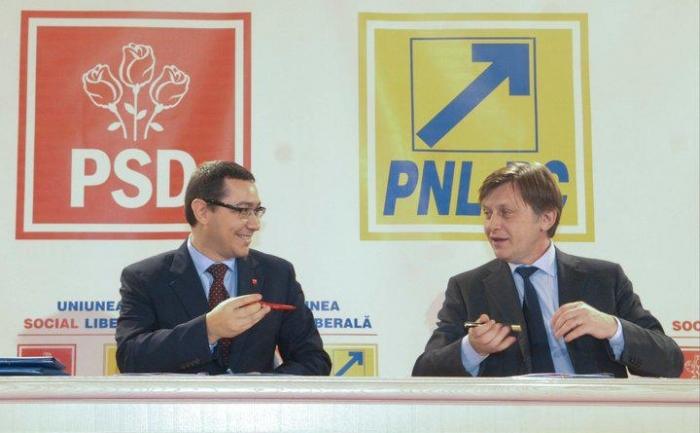 Liderii Uniunii Social Liberale (USL), Victor Ponta şi Crin Antonescu.