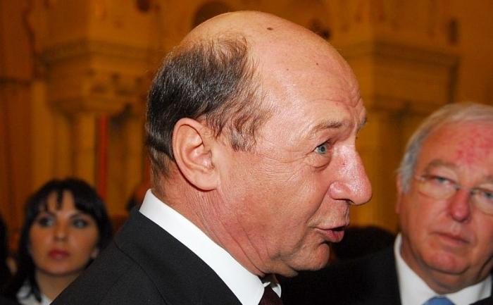 Preşedintele României, Traian Băsescu.