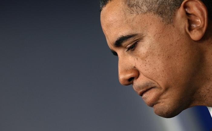 Preşedintele american Barack Obama făcând o declaraţie de presă pe 8 decembrie 2011 în Washington, DC.