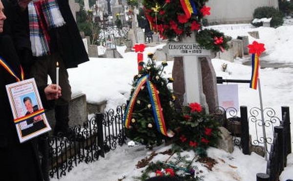 Cimitirul Ghencea, mormântul lui Nicolae Ceauşescu.