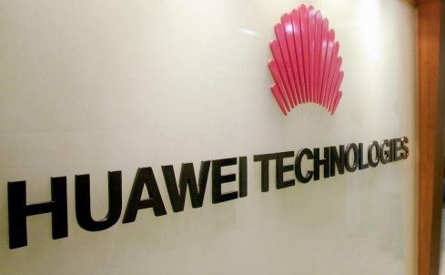 Logo-ul companiei chineze Huawei Technologies Co Ltd.