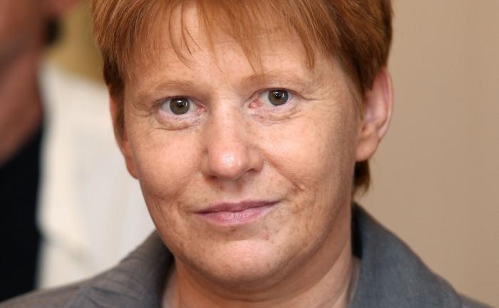 Vicepreşedinta parlamentului german şi deputat al partidului Die Linke (Stânga), Petra Pau.
