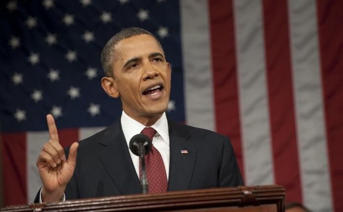 Barack Obama ţine, în faţa congresmenilor americani, discursul anual despre Starea Uniunii la Capitol Hill, 24 ian 2012, Washington DC .