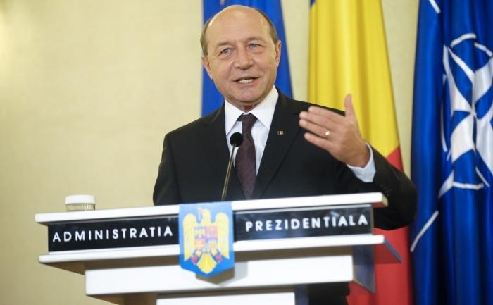 Preşedintele Traian Băsescu.