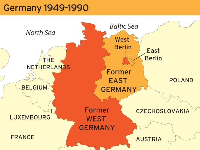 Harta Germania De Est Harta