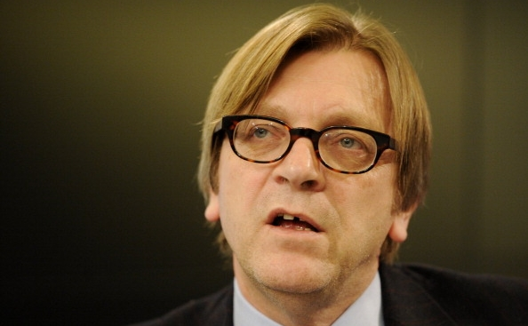 Preşedintele grupului liberal din PE, Guy Verhofstadt.
