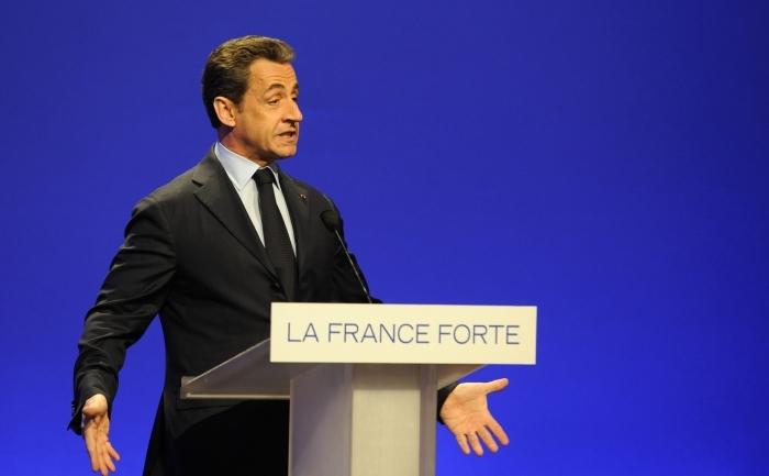 Preşedintele francez, Nicolas Sarkozy.