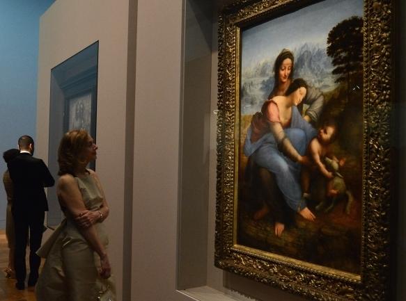'Sfânta Ana', ultima capodoperă a lui Leonardo Da Vinci, expusă la muzeul Luvru, Paris, 27 martie 2012
