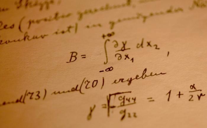 Un fragment din manuscrisul original a lui Albert Einstein privind Teoria relativităţii generale