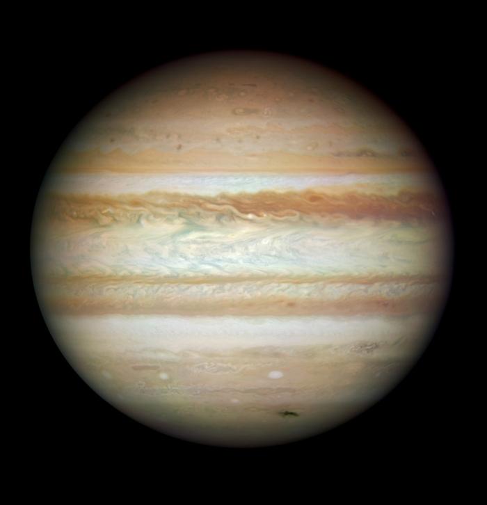Planeta Jupiter, văzută de telescopul Hubble