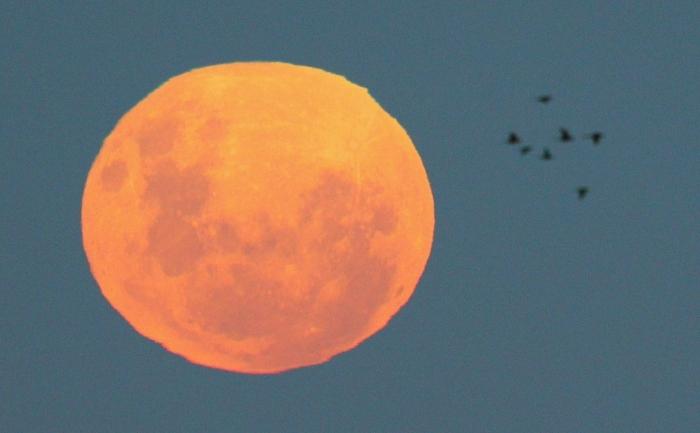 """""""Super Luna"""" deasupra Oceanului Pacific, 6 mai 2012"""