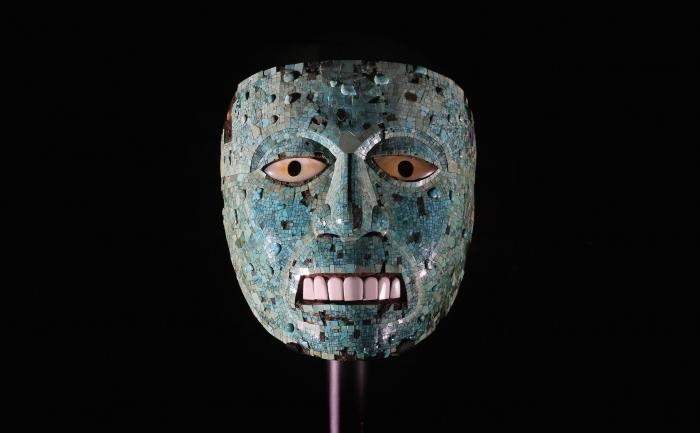 Mască aztecă (Mexic) la Britrish Museum