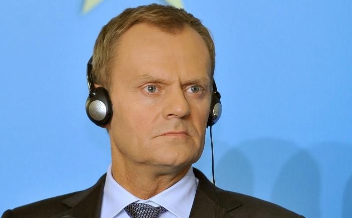 """Primul ministru al Poloniei, Donald Tusk, susţine o conferinţă de presă la finalul reuniunii """"Prietenii Coeziunii"""", Bucureşti, 1 iunie 2012."""