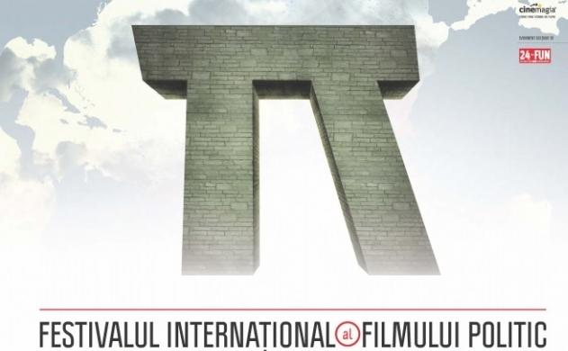 Afisul Festivalului International al Filmului Politic- Cinepolitica