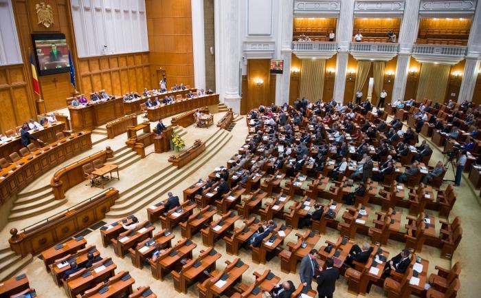 Şedinţă în Parlamentul României.