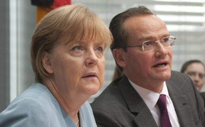 Gunther Krichbaum împreună cu Angela Merkel