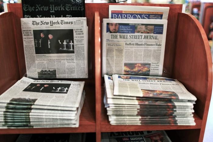 Punct de distribuţie ziare.