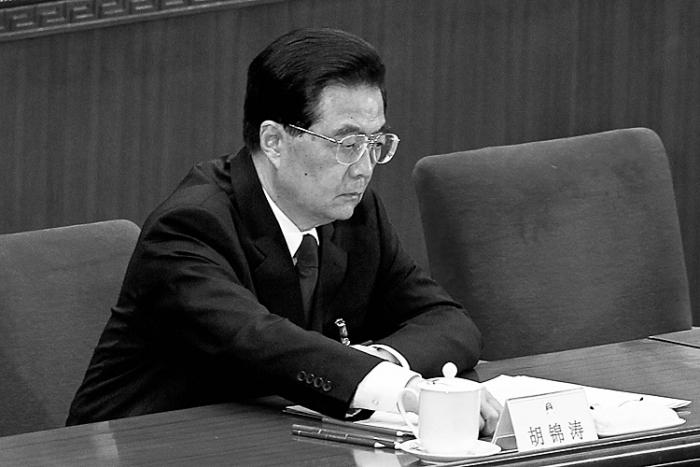 Liderul chinez Hu Jintao la sesiunea finală a Congresului Naţional al Poporului, 14 martie, 2012