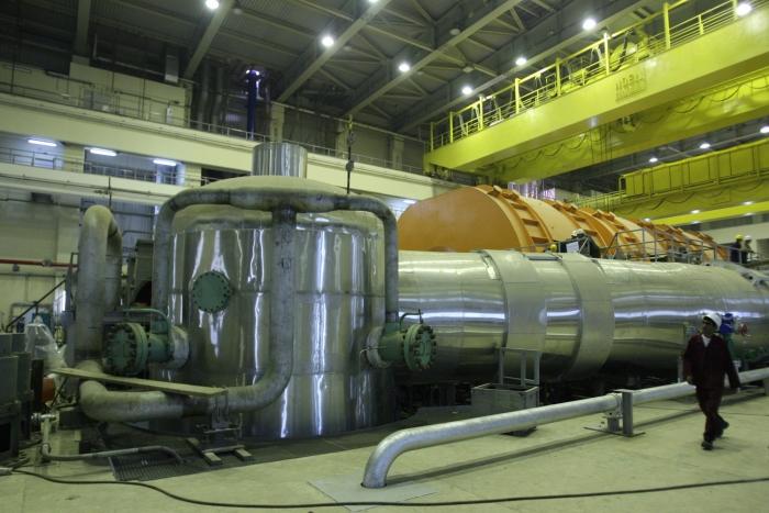 Imagine din interiorul reactorului nuclear de la Bushehr, Iran, august 2012