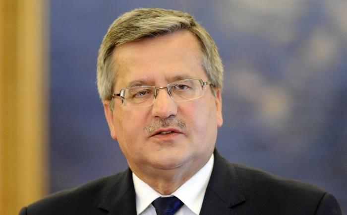 Preşedintele polonez, Bronislaw Komorowski.