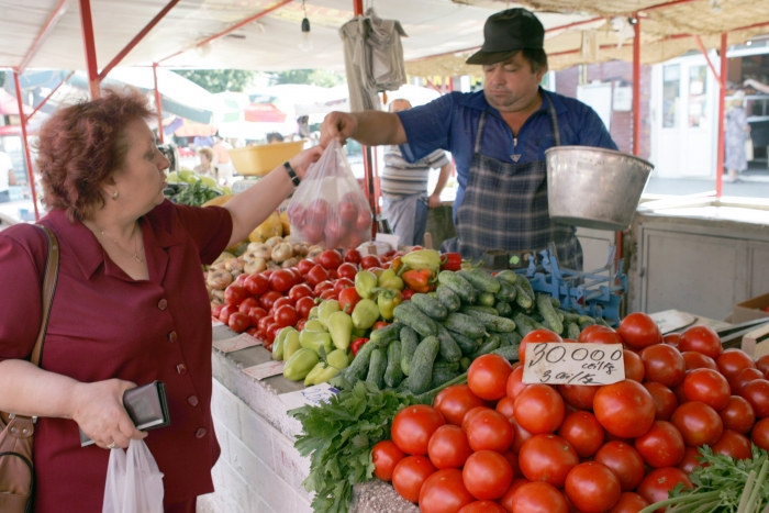 Piaţă agro - alimentară.