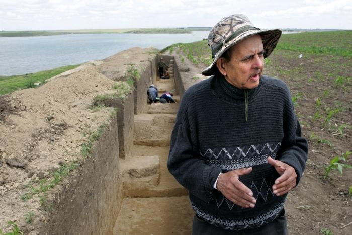 Şantier arheologic aparţinând de muzeul din Olteniţa, director Done Şerbănescu