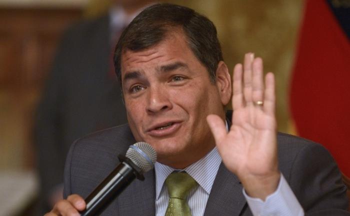 Preşedintele Ecuadorului, Rafael Correa.