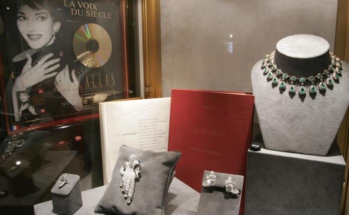 O parte din piesele care au aparţinut Mariei Callas, scoase la licitaţie de Sotheby's în 2004.
