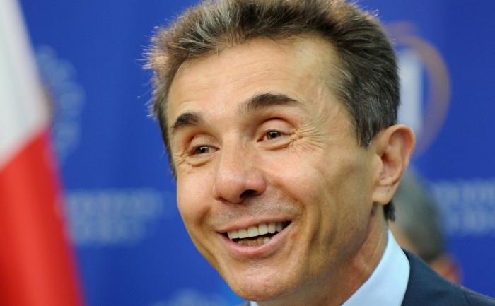 Miliardarul Bidzina Ivanişvili, liderul coaliţiei Visul Georgiei.